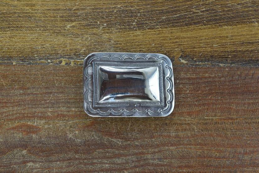 Vintage Southwestern Sterling Silver Belt Buckle
