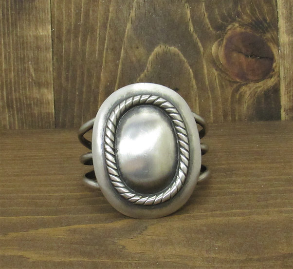 Vintage Sterling Silver Satin Finish Cuff Bracelet
