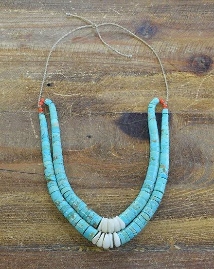 Southwestern Turquoise Beaded Jacla Necklace