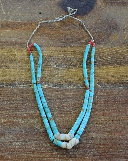 Vintage Southwestern Turquoise Beaded Necklace