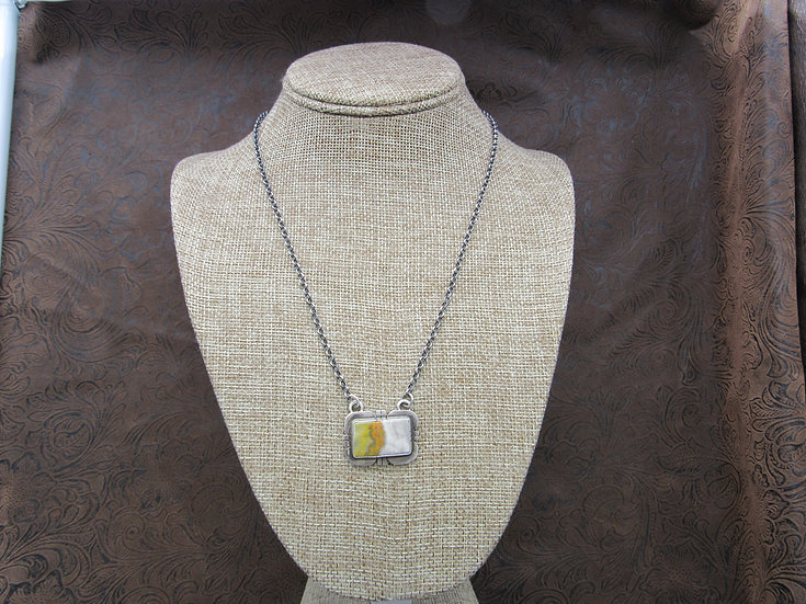 Sterling Silver and Bumble Bee Jasper Necklace by Russell Sam