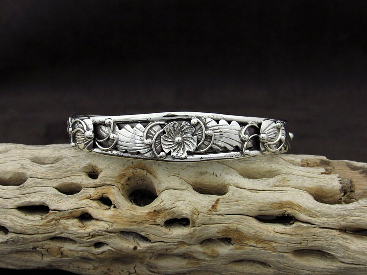 Southwestern Filigree Sterling Silver Cuff Bracelet