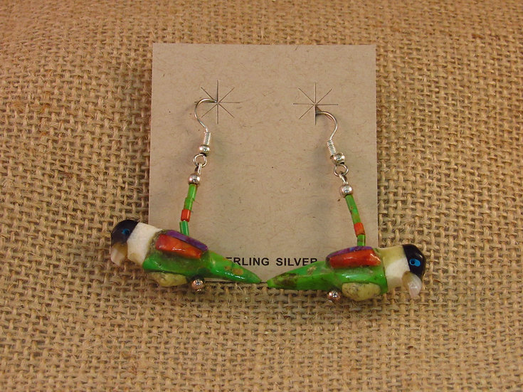 Southwestern Carved Parrot Earrings