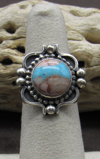 Boulder Turquoise and Sterling Silver Ring Size 6