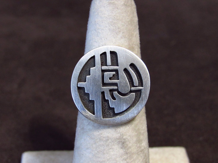 Southwest Sterling Silver Geometric Ring Size 6