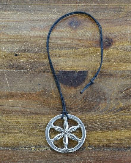 Vintage Southwestern Sterling Silver Flower Necklace