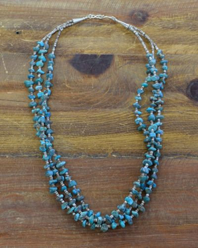 Vintage Turquoise and Heshi Beaded Necklace