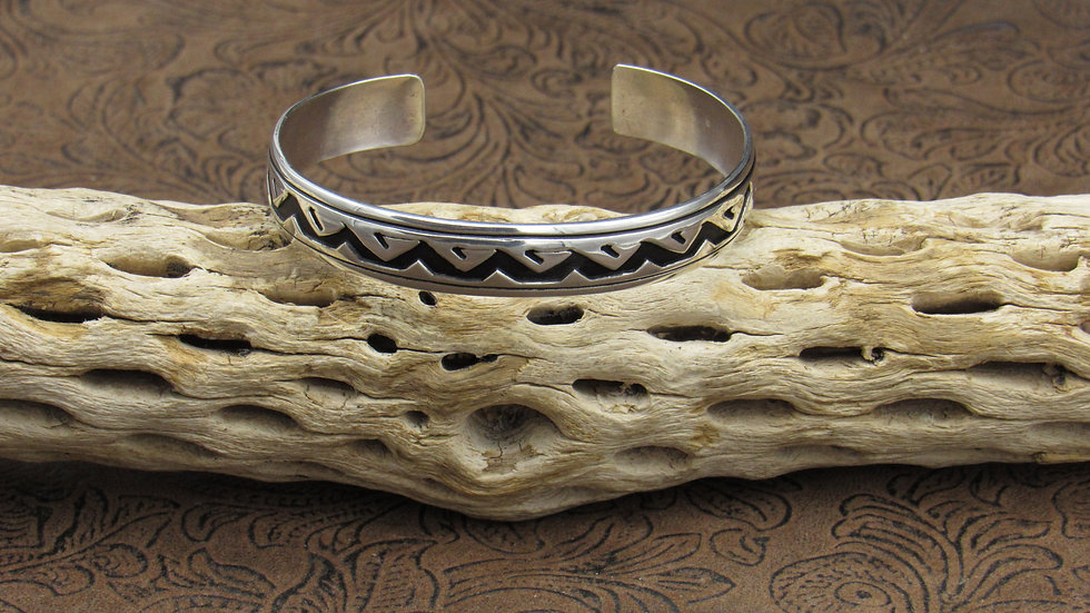 Sterling Silver Oxidized Cuff Bracelet