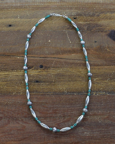 Navajo Sterling Silver and Turquoise Necklace