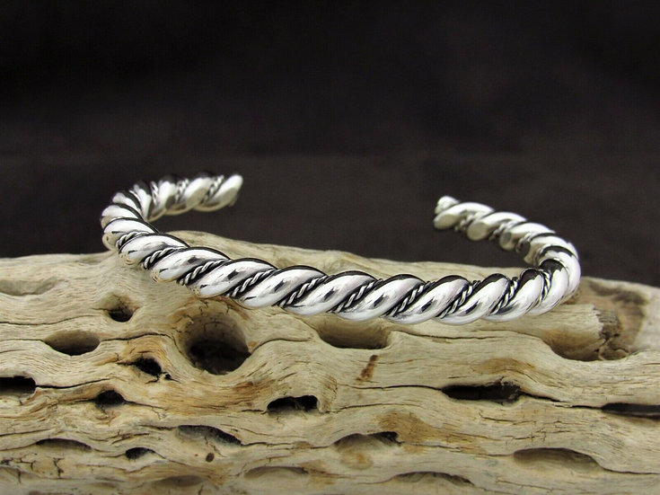 Sterling Silver Twisted Cuff Bracelet