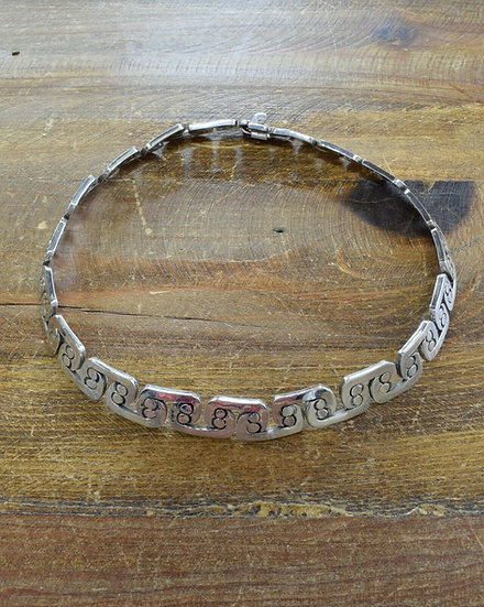 Vintage Sterling Silver Mexican Necklace
