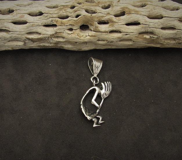 Southwestern Sterling Silver Kokopelli Pendant