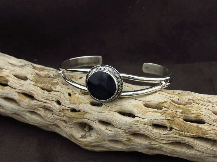 Sterling Silver Pietersite Cuff Bracelet