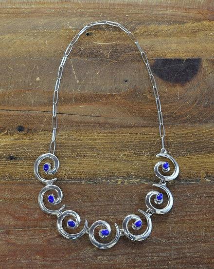 Southwestern Lapis Sterling Silver Necklace