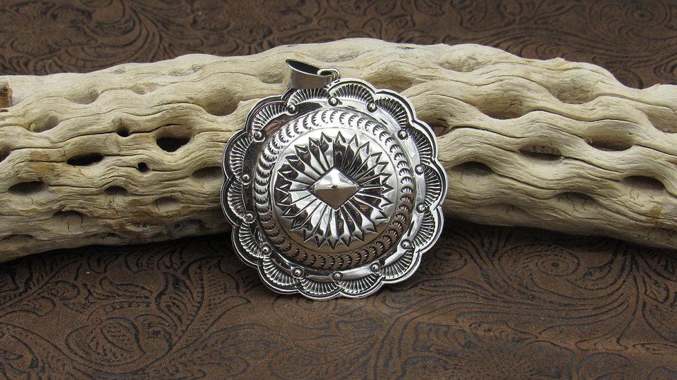 Sterling Silver Concho Pendant