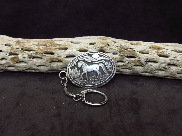Navajo Made Overlay Horse Key Chain
