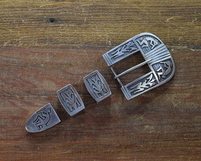Vintage Sterling Silver Kokopelli Ranger Set Belt Buckle