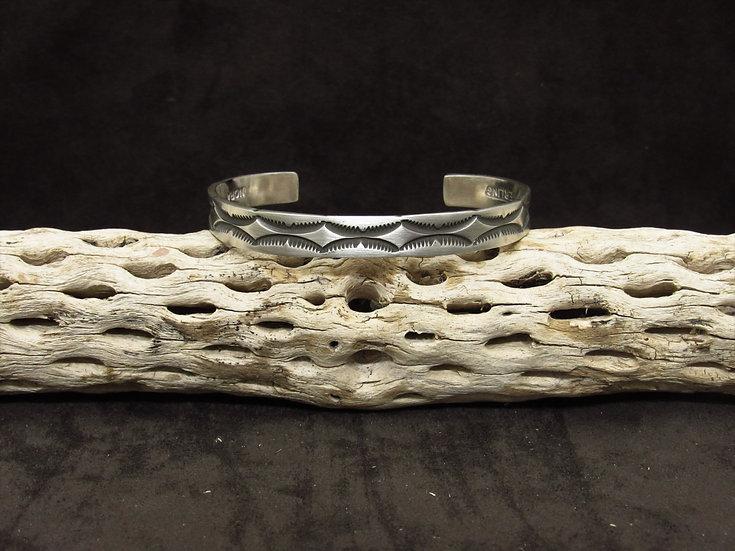 Sterling Silver Overlay Men's Cuff Bracelet