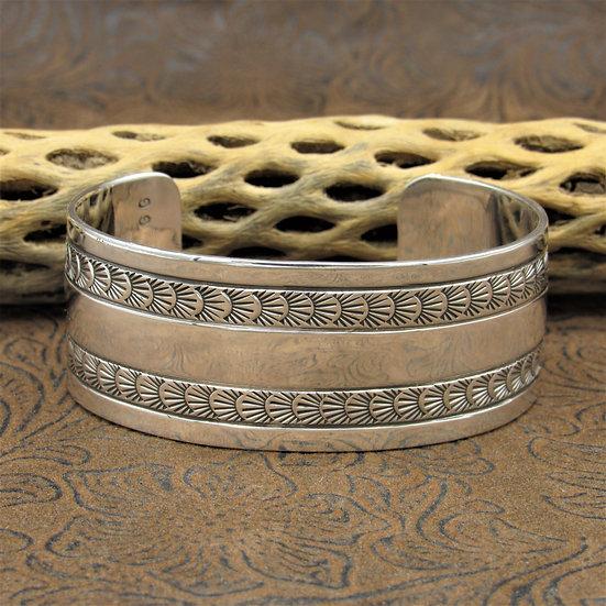 Southwestern Sterling Silver Stamped Cuff Bracelet
