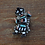 Thumbnail: Vintage Zuni Sterling Silver Multi-Stone Inlay Rainbow Yei Brooch