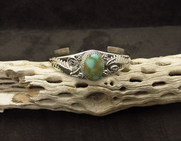 Southwest Sterling Silver Turquoise Cuff Bracelet