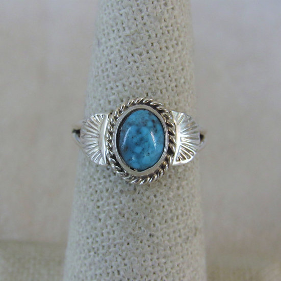 Sterling Silver and Turquoise Ring Size 6 by Jan Mariano