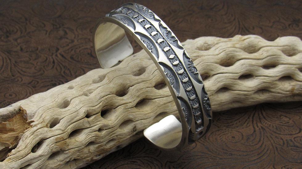 Satin Finish Sterling Silver Cuff Bracelet by Tahe