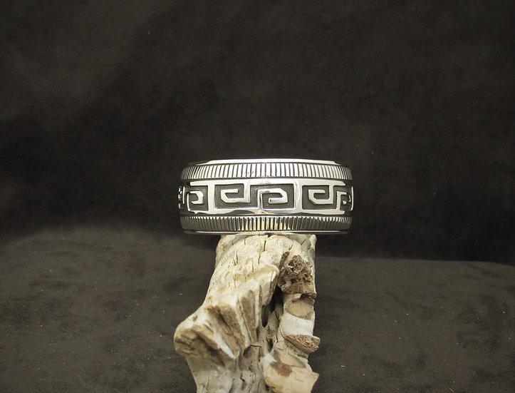 Navajo Sterling Silver Cuff Bracelet by Nakai