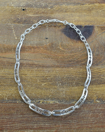 Vintage Sterling Silver Chain Link Necklace