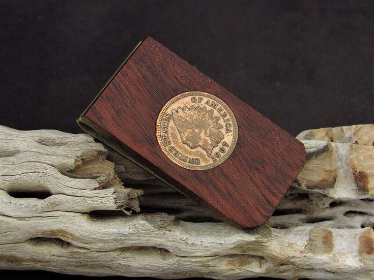 Southwestern Wooden Coin Money Clip