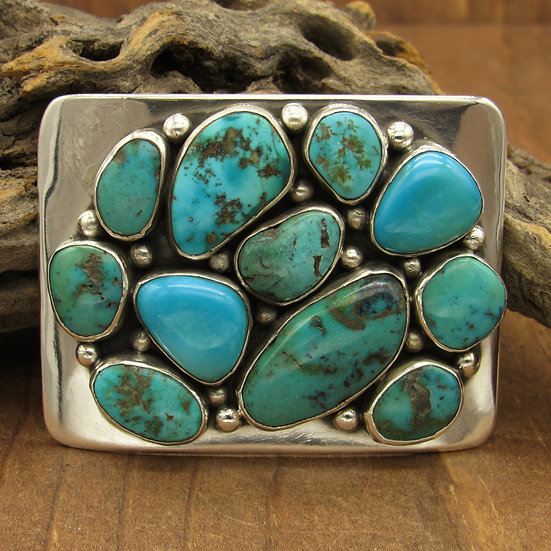 Sterling Silver and Turquoise Southwest Belt Buckle