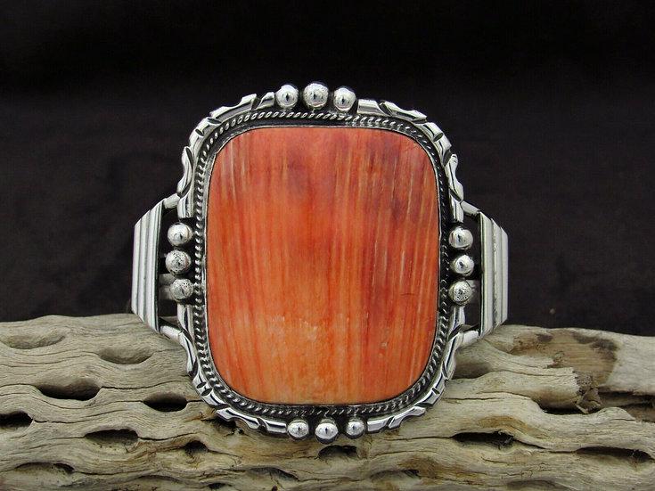 Bold Southwest Sterling Silver Spiny Oyster Cuff Bracelet
