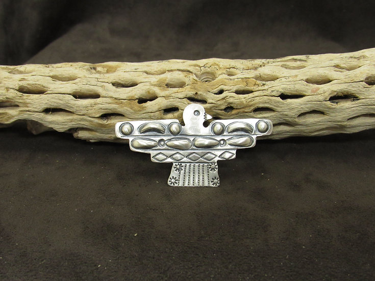 Navajo Sterling Silver Oxidized Thunderbird Pin/Pendant