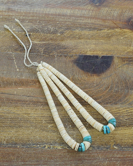 Vintage Southwestern Turquoise and Shell Jaclas