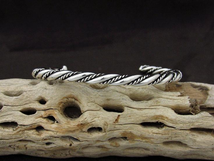 Southwestern Sterling Silver Twisted Cuff Bracelet