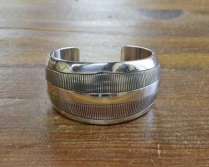 Vintage Navajo Sterling Silver Cuff Bracelet by Allison Lee