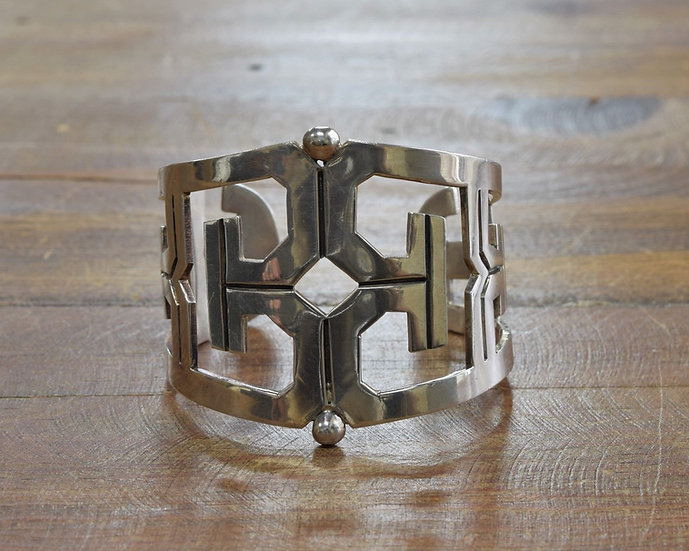 Taxco Mexico 925 AVM Wide Cuff Bracelet