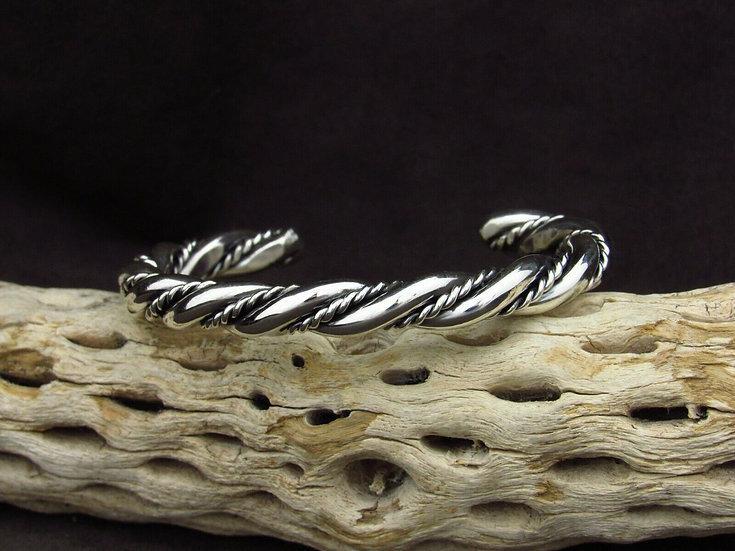 Sterling Silver Twisting Cuff Bracelet