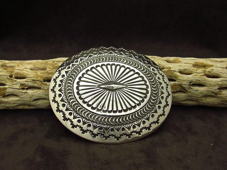 Navajo Sterling Silver Stamped Buckle