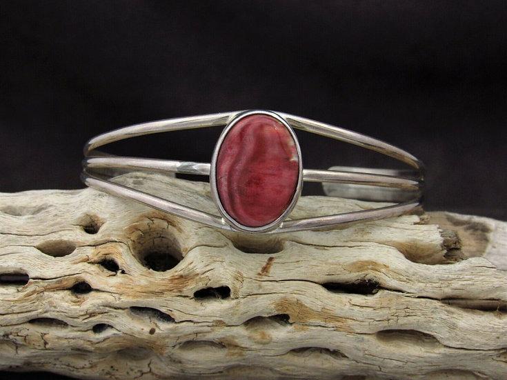 Sterling Silver Purple Spiny Oyster Cuff Bracelet