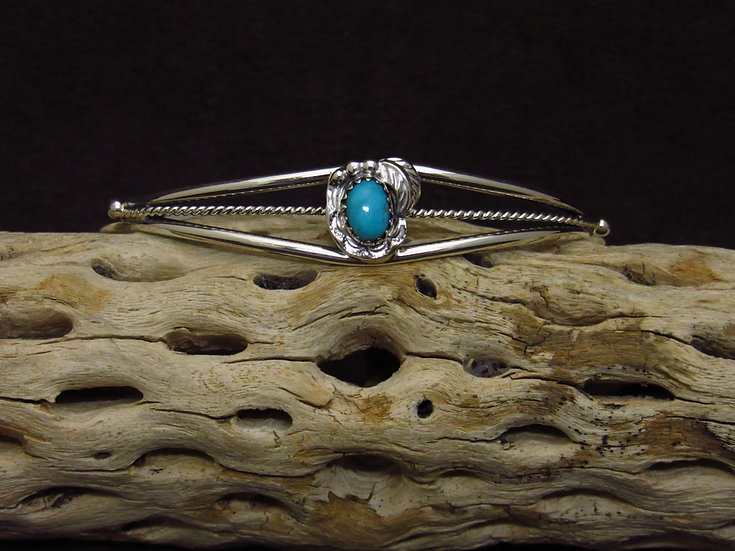 Lightweight Sterling Silver Turquoise Cuff Bracelet