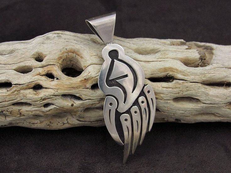 Sterling Silver Badger Overlay Pendant