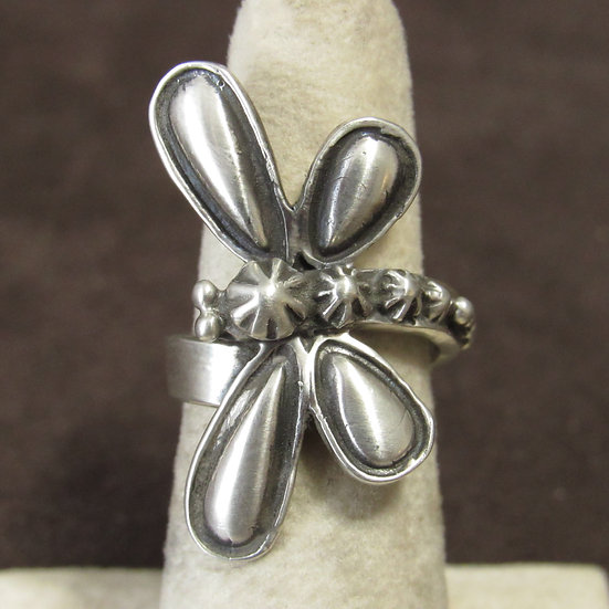 Sterling Silver Ladies Dragonfly Ring Adjustable