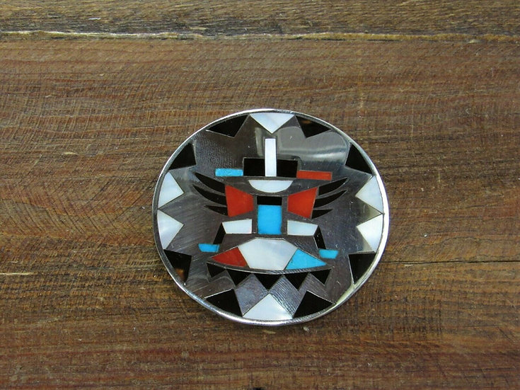 Vintage Zuni Multi-Color Knifewing Pendant/Pin