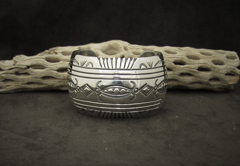 Sterling Silver Cuff Bracelet by Gilbert Begay