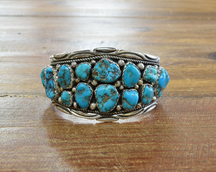 Navajo Sterling Silver and Turquoise Men's Bracelet