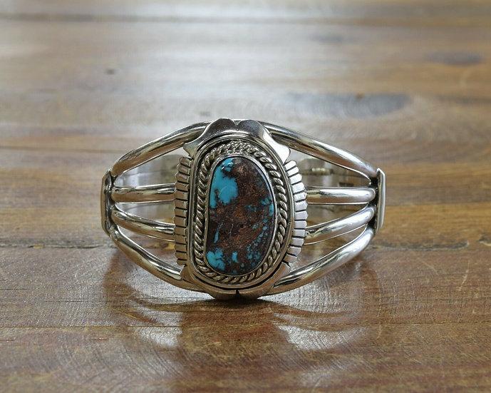 Heavy Sterling Silver Turquoise Cuff Bracelet