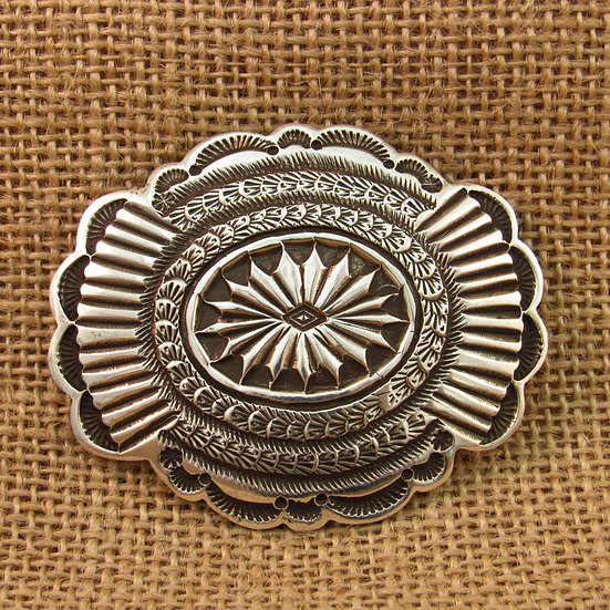 Navajo Sterling Silver Concho Pin