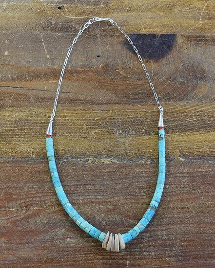 Turquoise Jacla Beaded Necklace
