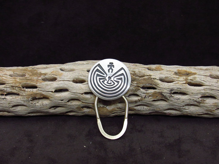 Navajo Brushed Finish Man In the Maze Key Chain